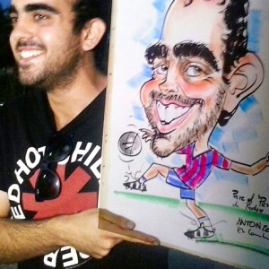 Caricaturas en Vivo Madrid 7