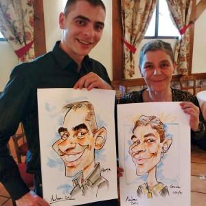 Caricaturas en vivo boda 2