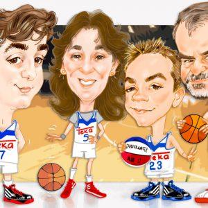 Caricaturas de grupo familia_Real-Madrid_baloncesto