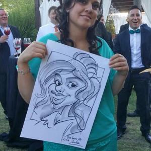 Caricaturas en vivo boda 1