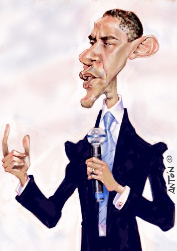 Caricaturas Madrid Barak-Obama
