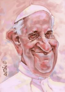 Caricaturas de calidad - Papa-Francisco