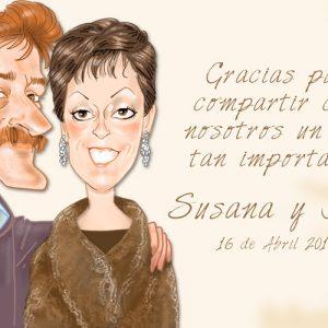 Caricaturas de parejas Regalo inolvidable 2c