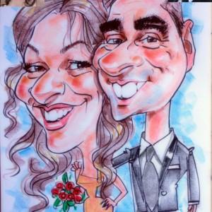 Caricatura Tradicional boda 1