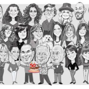 Caricaturas de grupo aniversario1