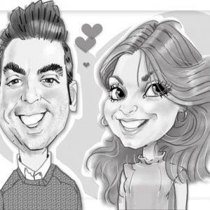 Caricaturas de parejas regalo inolvidable 21