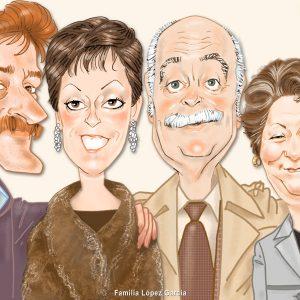 Caricaturas de grupo familia