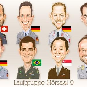 Caricaturas de grupo militares