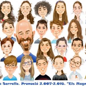 Caricaturas de grupo -niños-colegio
