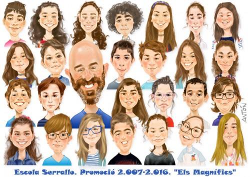 Caricaturas de grupo 5