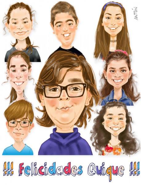 Caricaturas de grupo 1