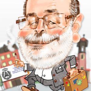 Caricaturas por encargo aparejador jubilado
