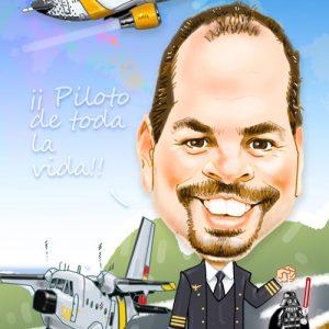 Caricatura-digital-personalizada-Piloto