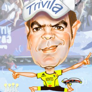 caricatura-digital-personalizada-triatleta