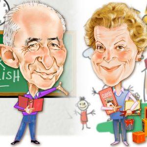 Caricaturas por encargo profesores jubilados
