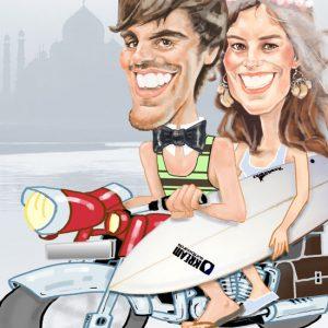 Caricatura-digital personalizada-pareja 2