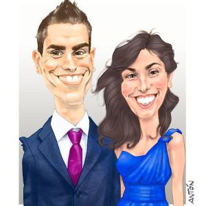 Caricaturas de parejas regalo inolvidable 17