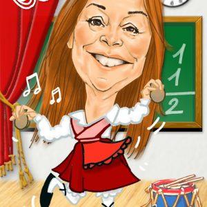 Caricaturas Madrid profesora jota