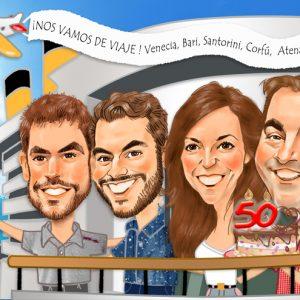 Caricaturas de grupo Leridanos - Crucero
