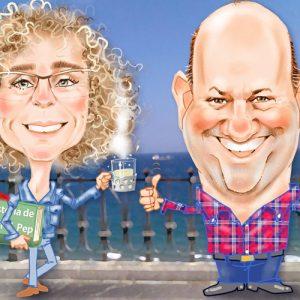 Caricaturas de parejas regalo inolvidable 5