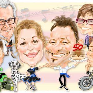 Caricaturas de grupo Leridanos