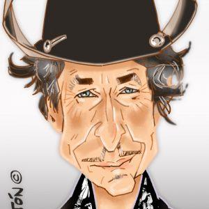 Caricaturas por encargo Bob Dylan