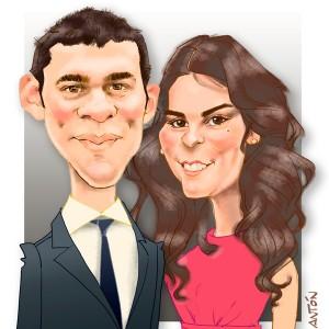 Caricaturas de parejas regalo inolvidable 16