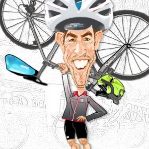 Caricaturas por encargo ciclista