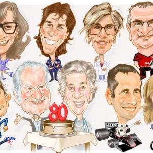 Caricaturas de grupo familia_80_cumpleaños