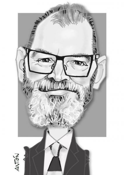 Caricaturas Madrid consultor barba