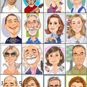 Caricaturas de grupo profesores